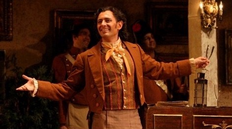 Brett Polegato as Figaro in 'Il Barbiere di Siviglia', Vancouver Opera.  Photo by Tim Matheson.